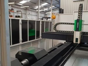 Combination flatbed and tube fibre laser machine installed in the West Midlands