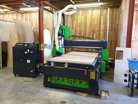 CNC routing machine installed in Yorkshire.