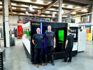 Double Fibre Laser Cutter Installation Plymouth, UK