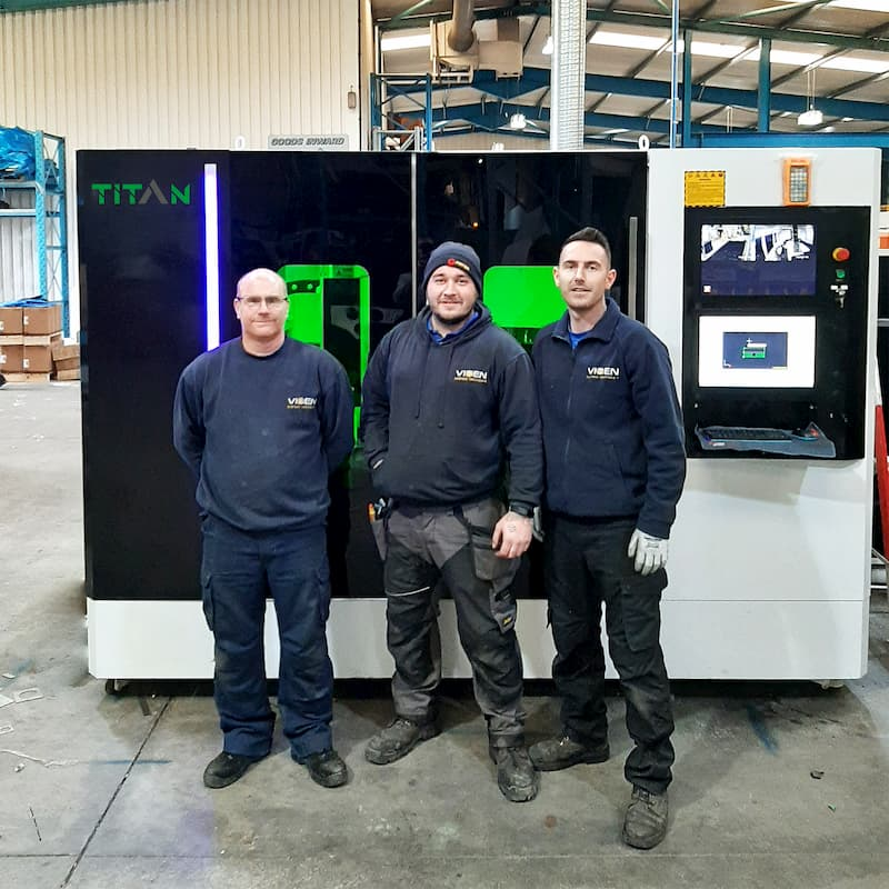New Fibre Laser Cutter Installation In Middlesbrough UK