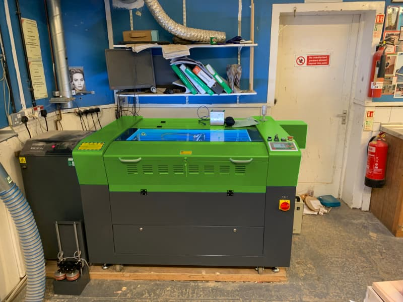 Laser machine installation in the UK