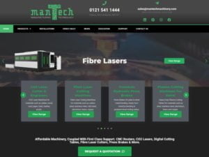 New Website launch 2019 for Mantech Machinery