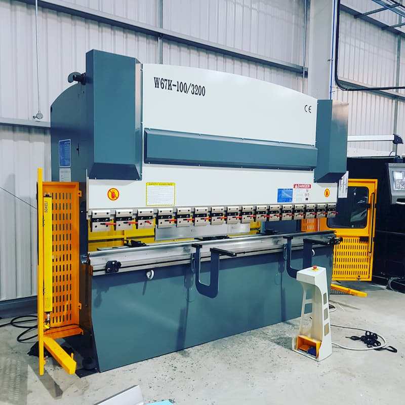 3.2 m 100 ton Press Brake installation for this lift manufacturer in Leeds.