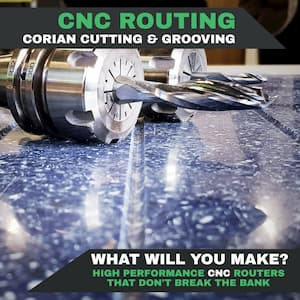 CNC Routers For Solid Surface Material Such As Corian