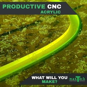 Cut acrylic on a Mantech CNC Router