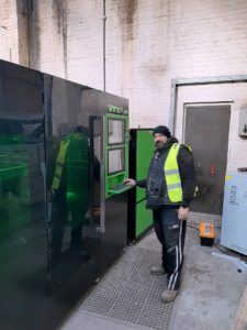 Fibre laser cutting machine used for security doors.