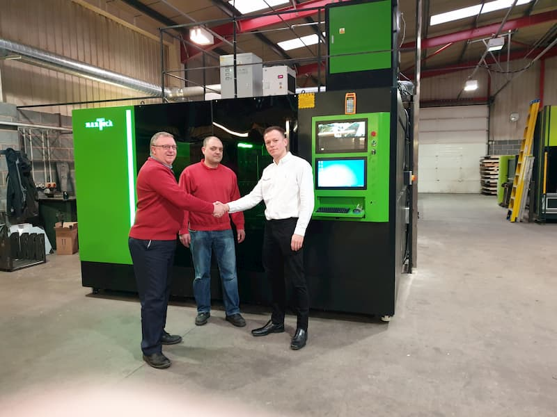Happy Customer upon commissioning of their new Titan Fibre Laser Cutter