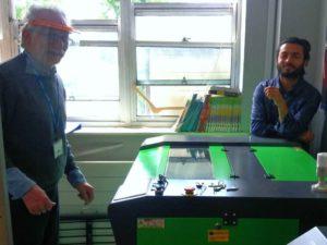 New Laser Cutter & Gravura Machine Install - Educație