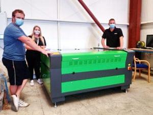 Plastics Fabricator Chooses Lasertech CO2 Laser