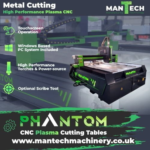 Phantom CNC Plasma Cutter Machine UK