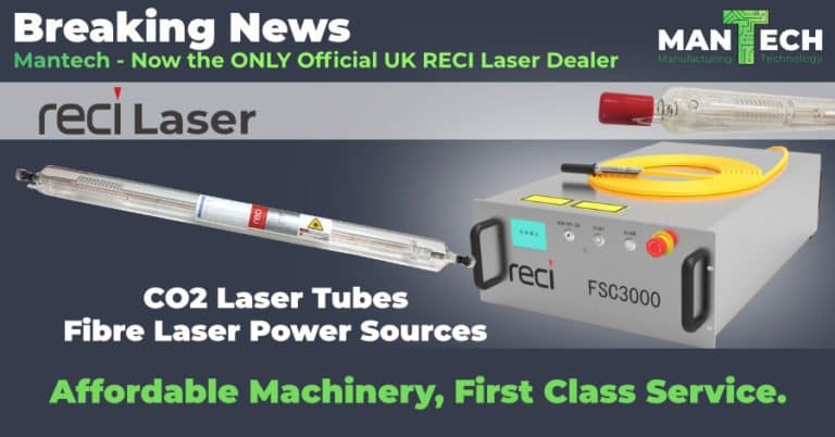 Mantech Awarded Sole UK Dealership For RECI Laser