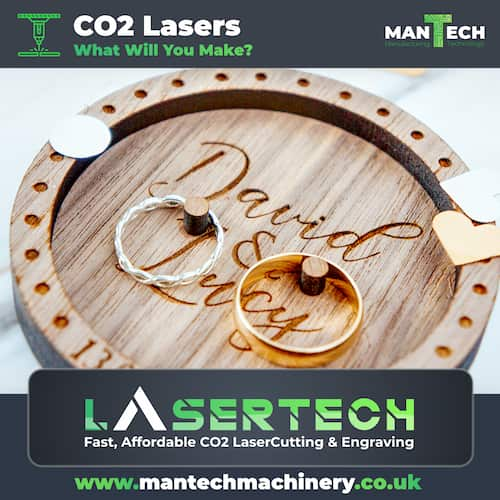 Laser Cut and Engraved Wedding Ring Holder