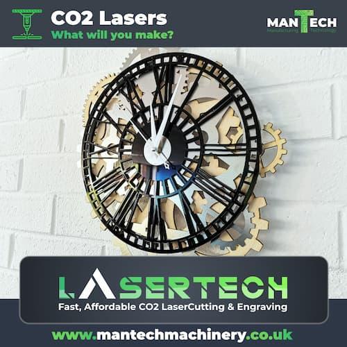 Crazy Laser Cut & Engraved Clocks
