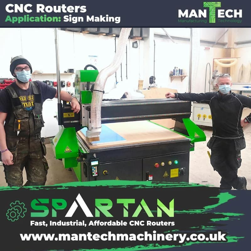 Dumfries based sign company chooses Spartan 1325 CNC Router