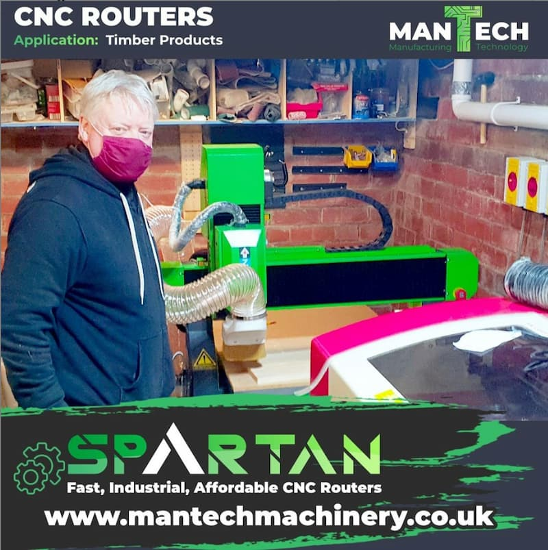 Home based customer chooses Spartan 6090 CNC Router