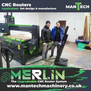 Set Designers Choose Merlin CNC Router